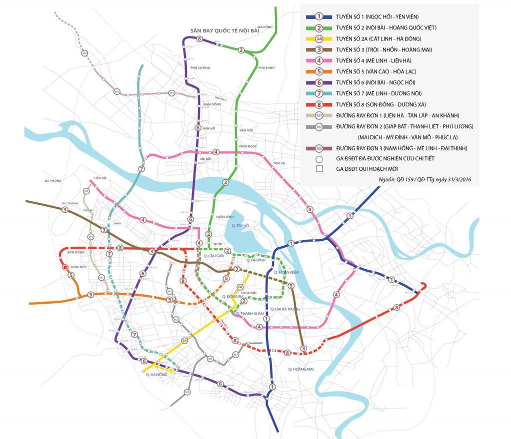 ハノイメトロ路線図